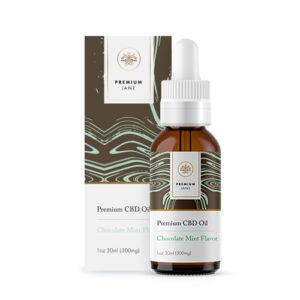 300mg Mint Chocolate Flavor CBD Oil – 1 oz / 30ml