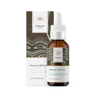 600mg Mint Chocolate Flavor CBD Oil – 1 oz / 30ml